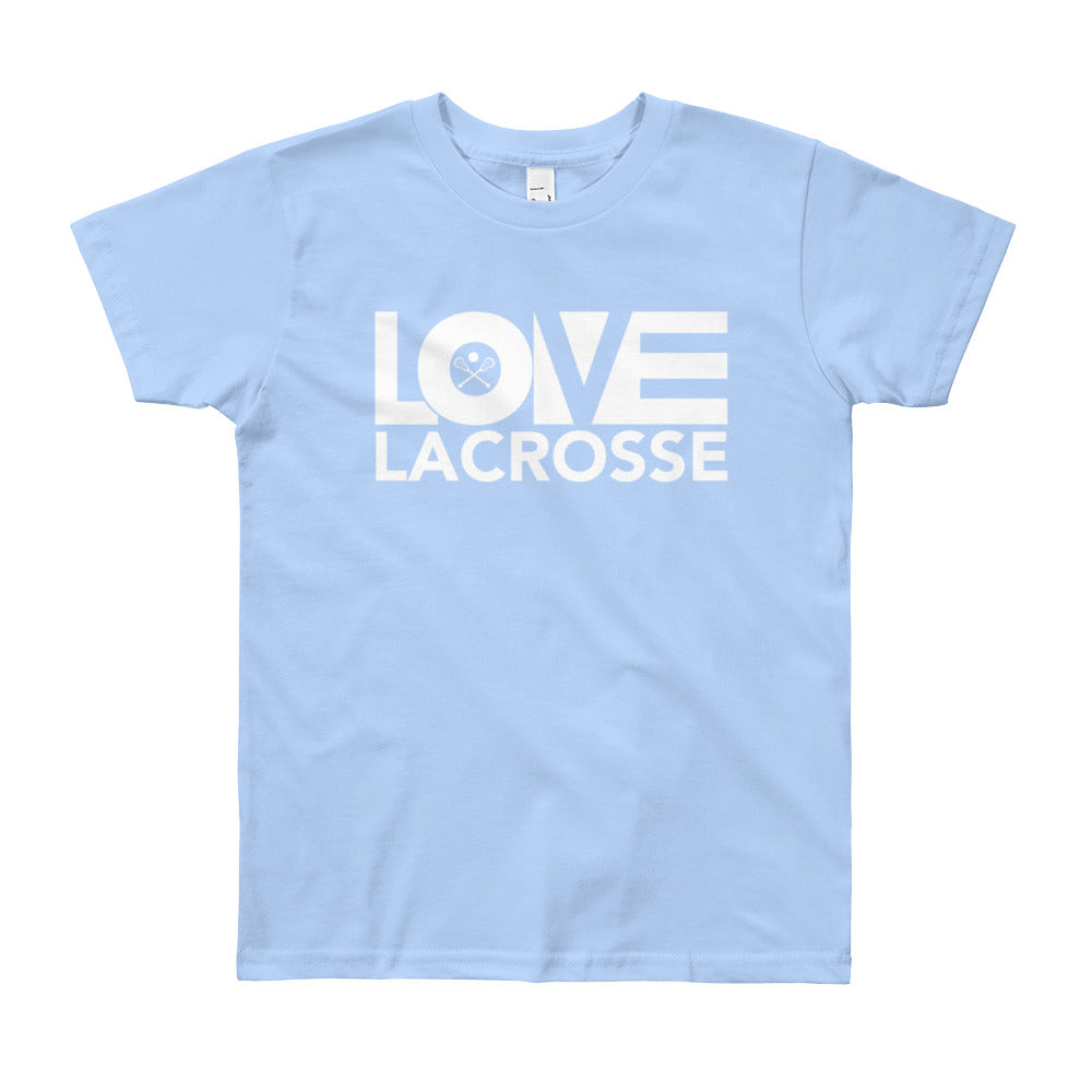 Baby blue LOV=Lacrosse Youth Tee