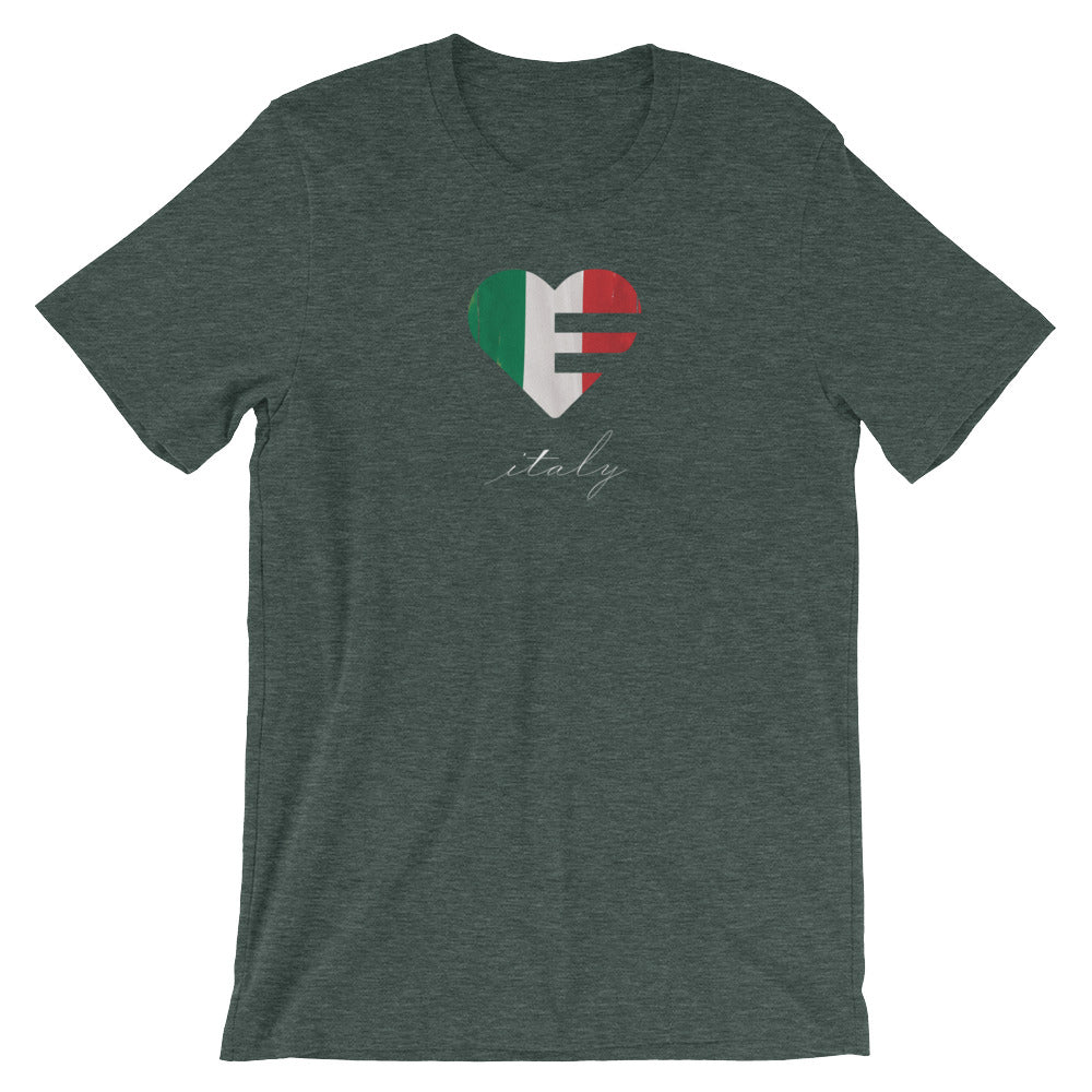 Heather forest Italy Heart Unisex Tee