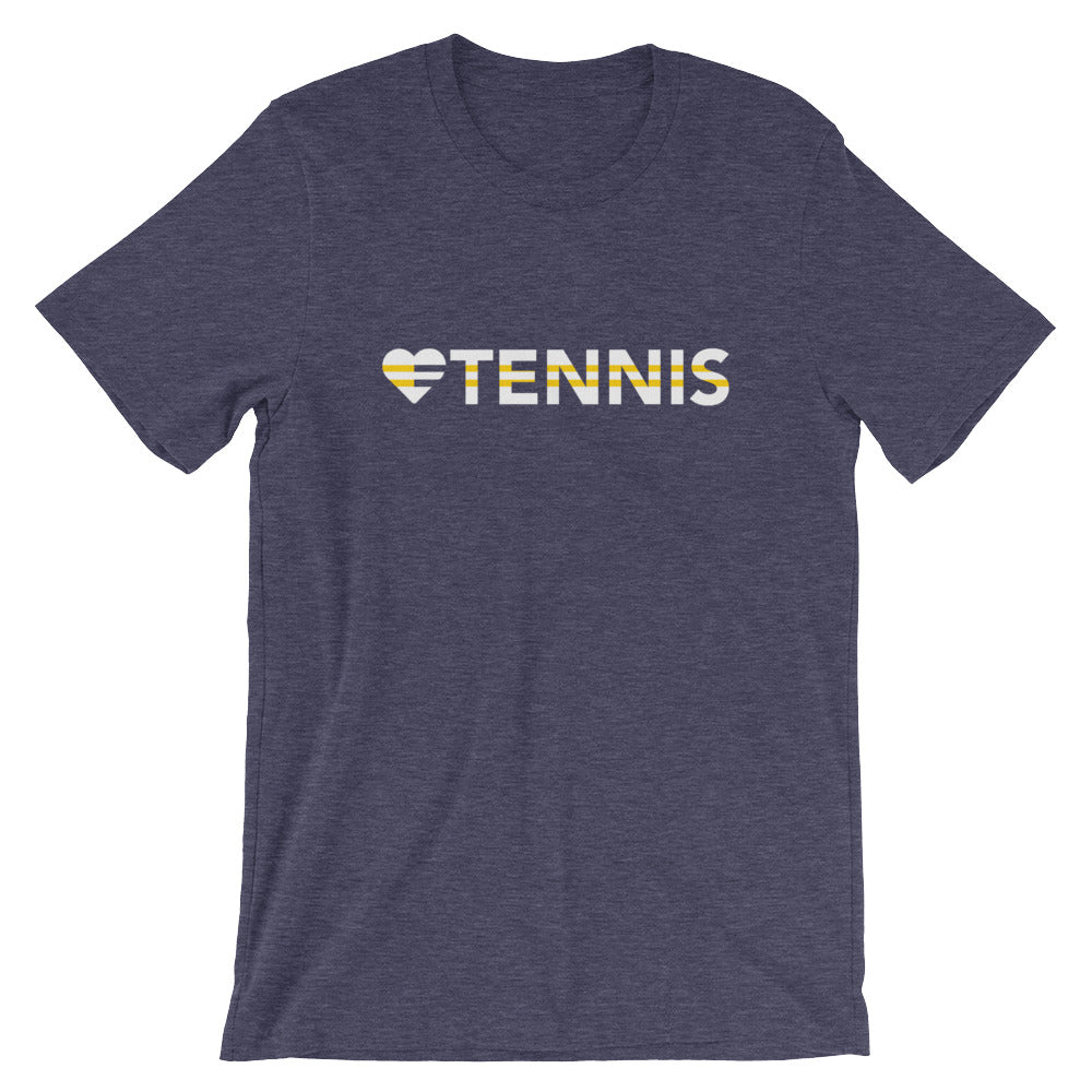 Midnight navy Heart=Tennis Unisex Tee