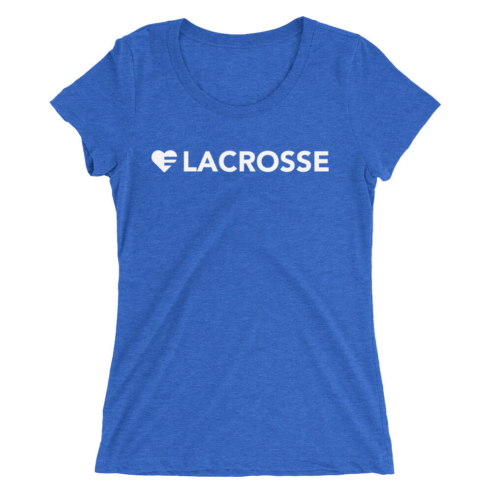True Royal Heart=Lacrosse Ultra Slim Fit Triblend Tee