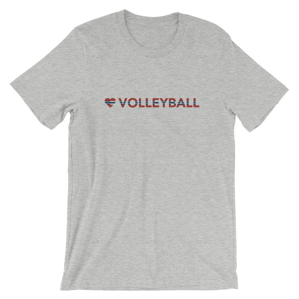Athletic heather Heart=Volleyball Unisex Tee