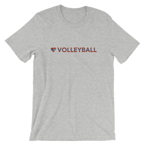 Heart=Volleyball Unisex Tee