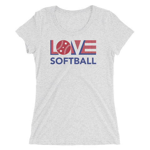 LOV=Softball Ultra Slim Fit Triblend Tee
