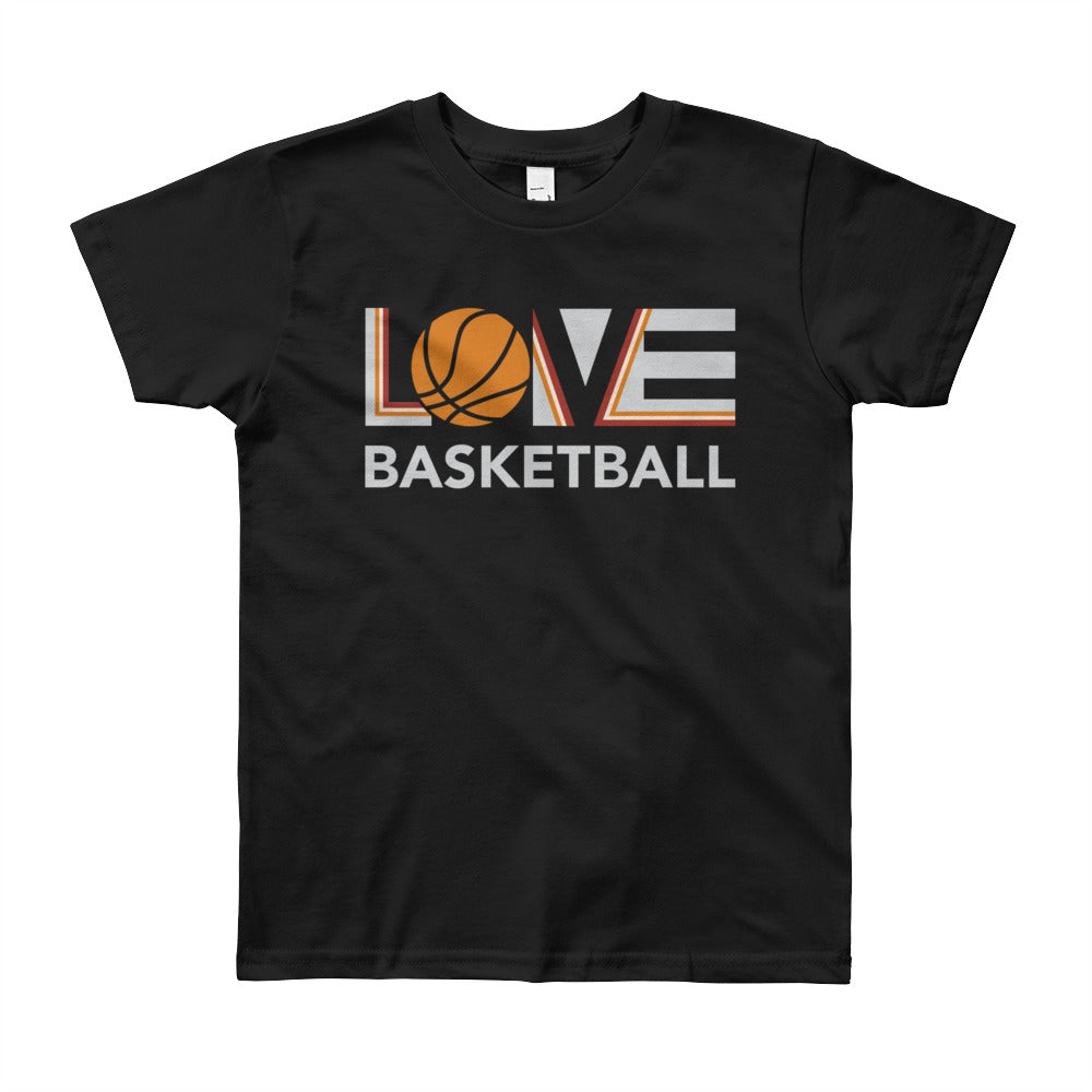 Black LOV=Basketball Youth Tee