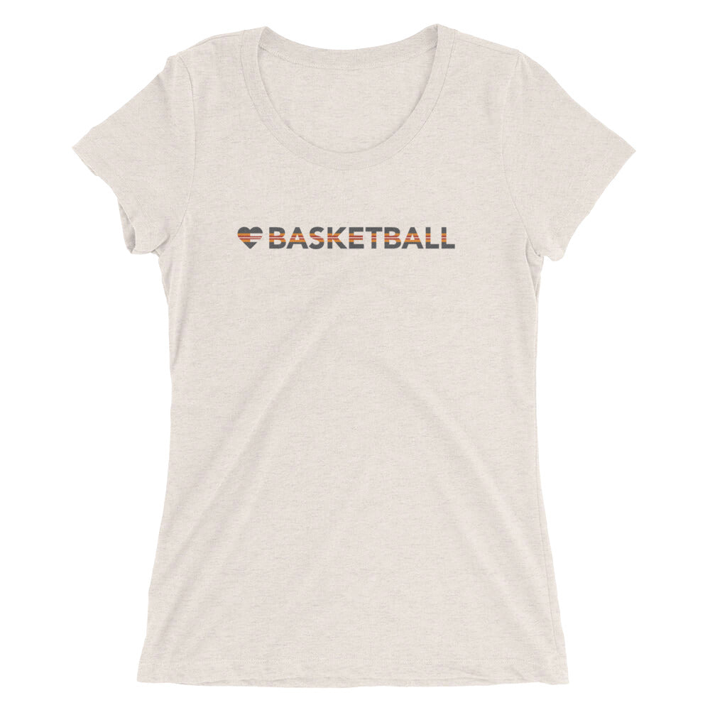 Oatmeal Heart=Basketball Ultra Slim Fit Triblend Tee