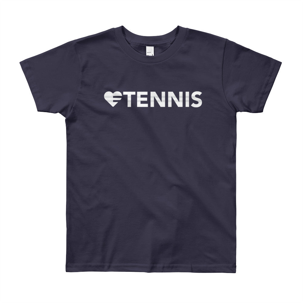 Navy Heart=Tennis Youth Tee