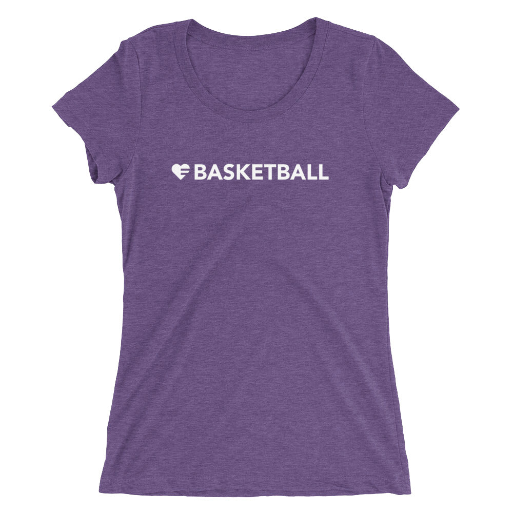 Purple Heart=Basketball Ultra Slim Fit Triblend Tee