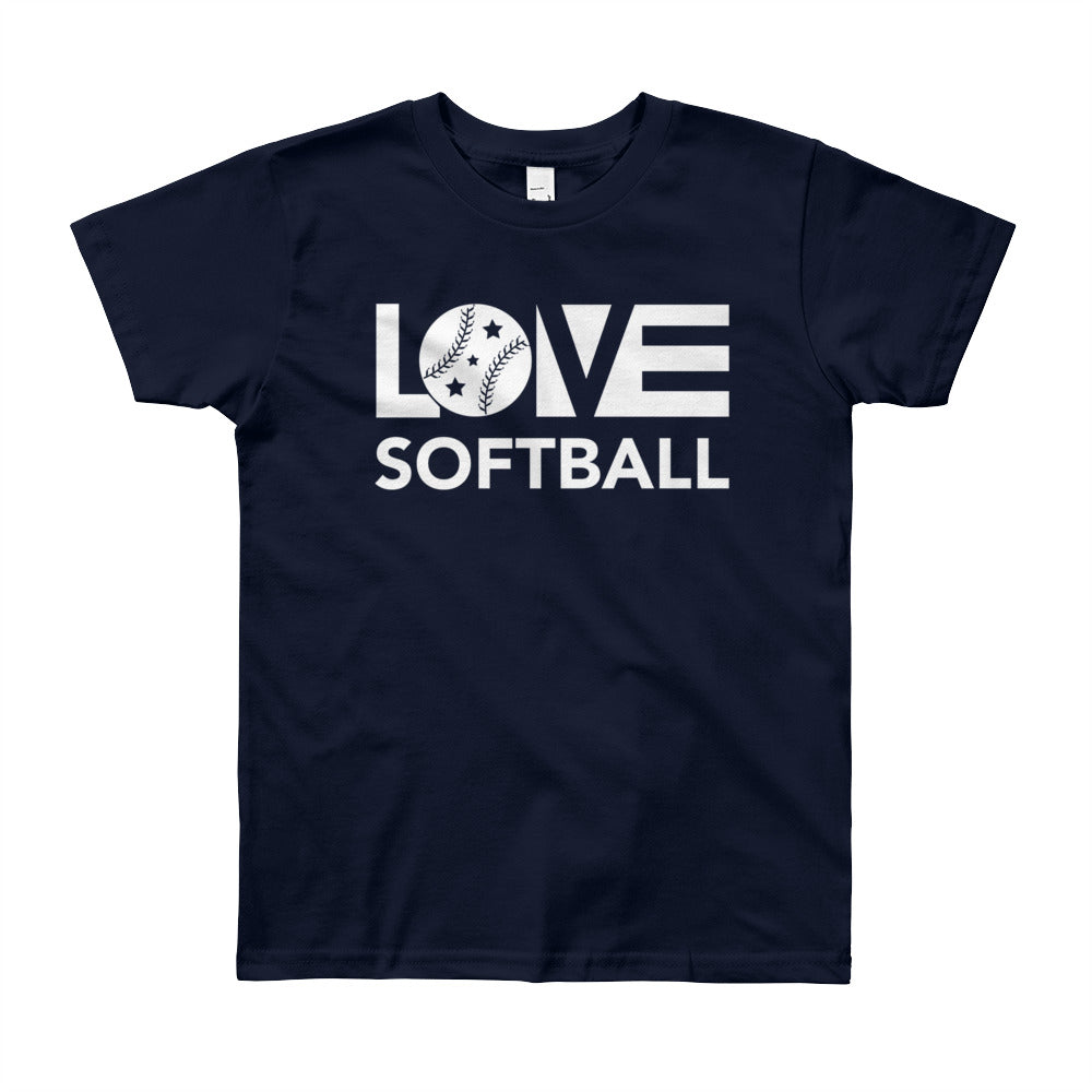 Navy LOV=Softball Unisex Tee