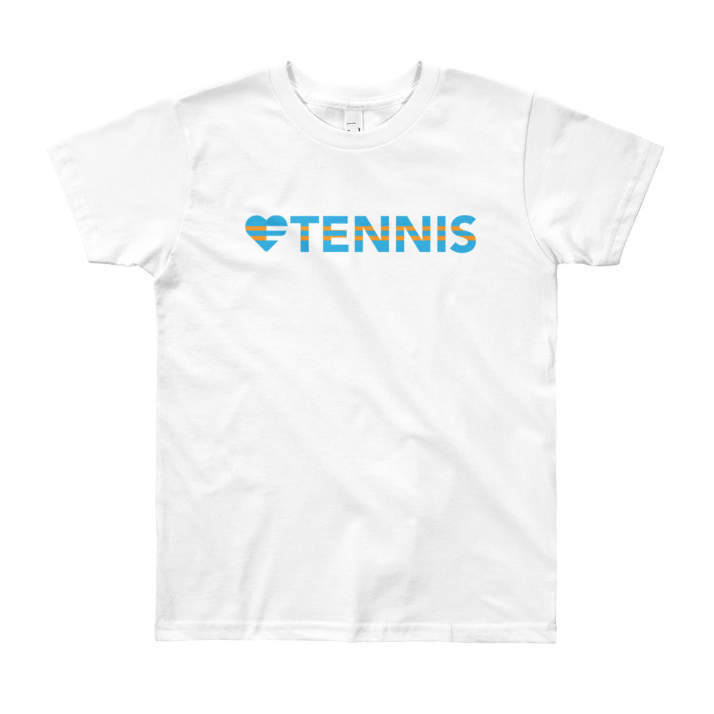 White Heart=Tennis Youth Tee