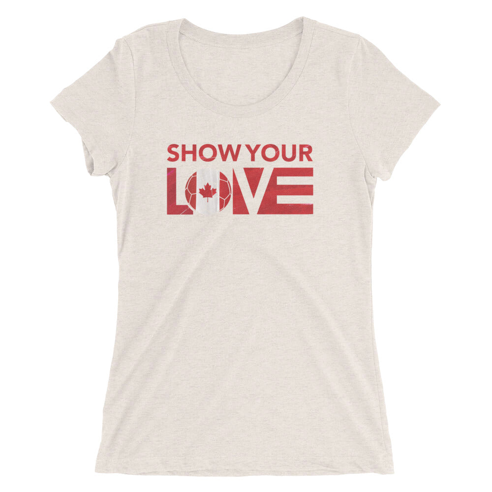 Show Your Love Canada Slim Fit Tee Oatmeal Triblend