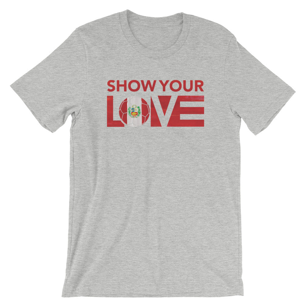 Athletic Heather Show Your Love Peru Unisex Tee