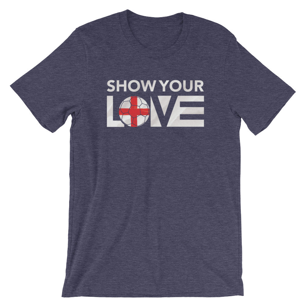 Midnight Navy Show Your Love England Unisex Tee