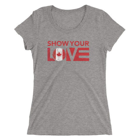 Show Your Love Canada Slim Fit Tee