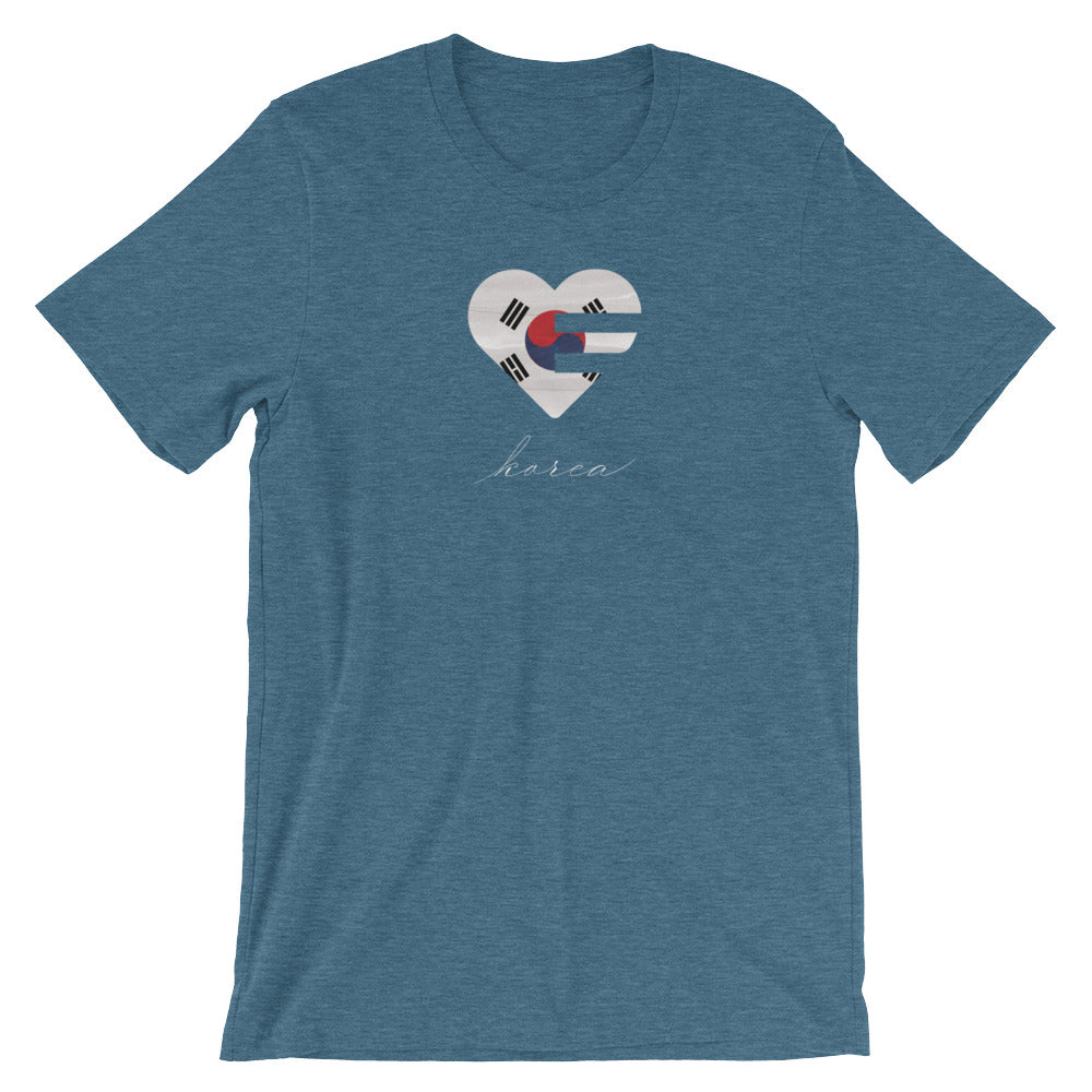 Deep teal Korea Heart Unisex Tee
