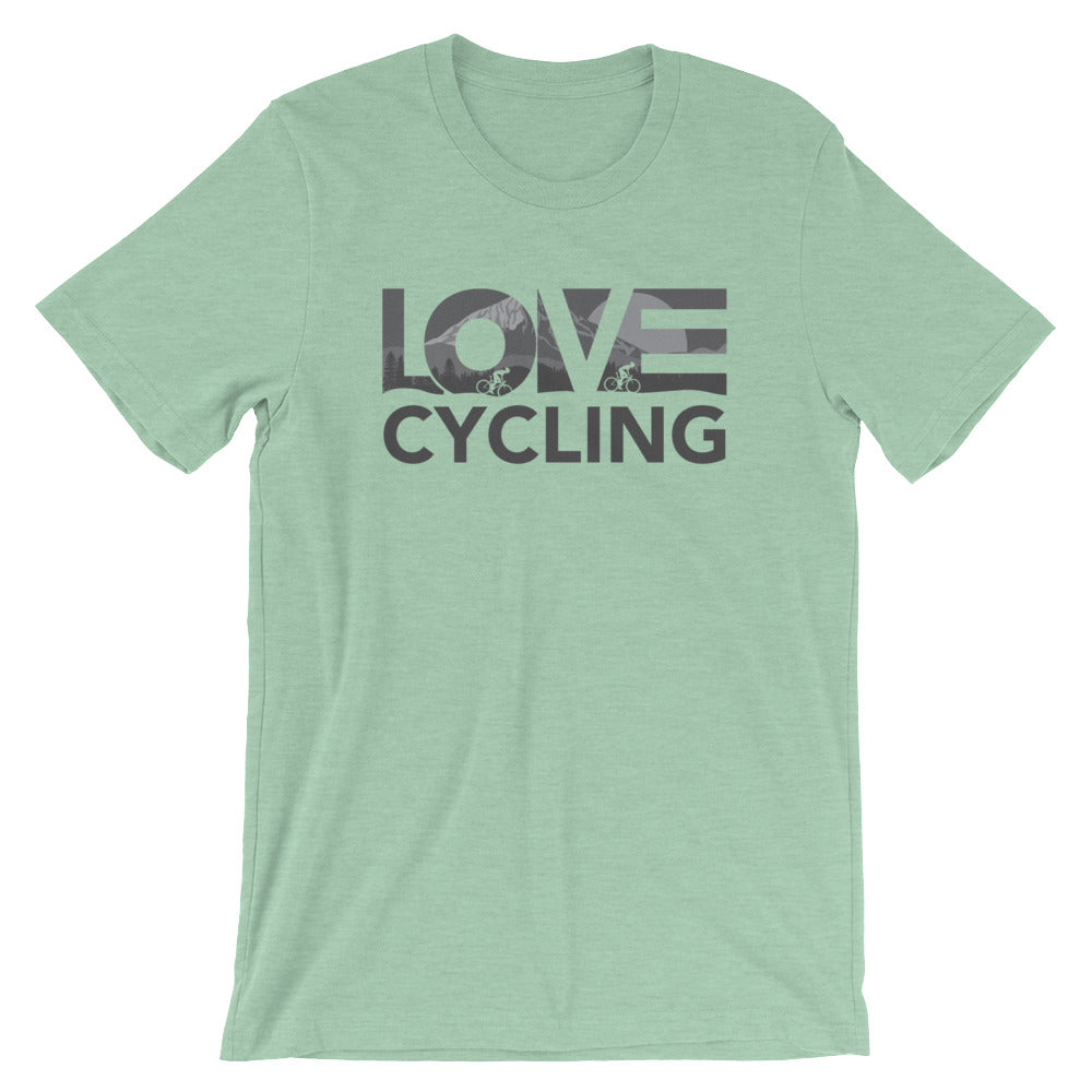 Prism mint LOV=Cycling Unisex Tee