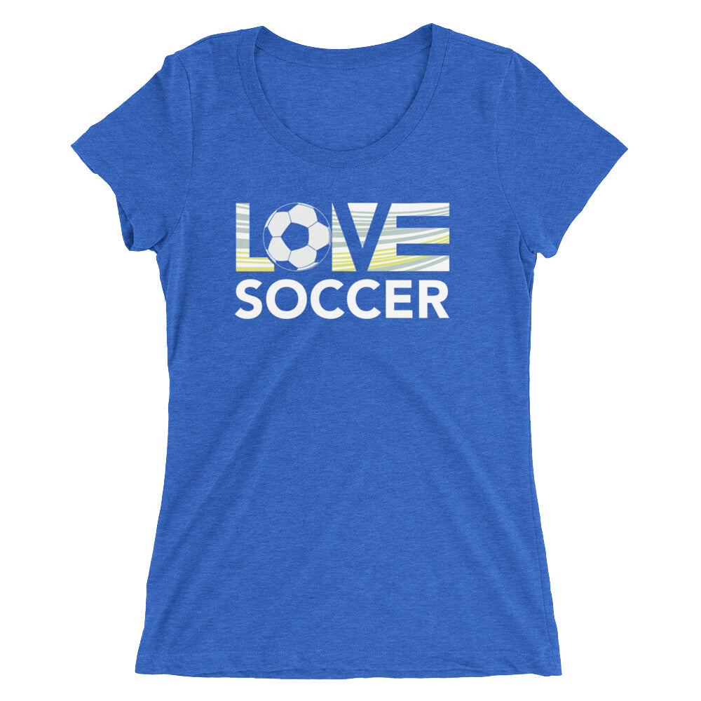 True royal LOV=Soccer Ultra Slim Fit Triblend Tee