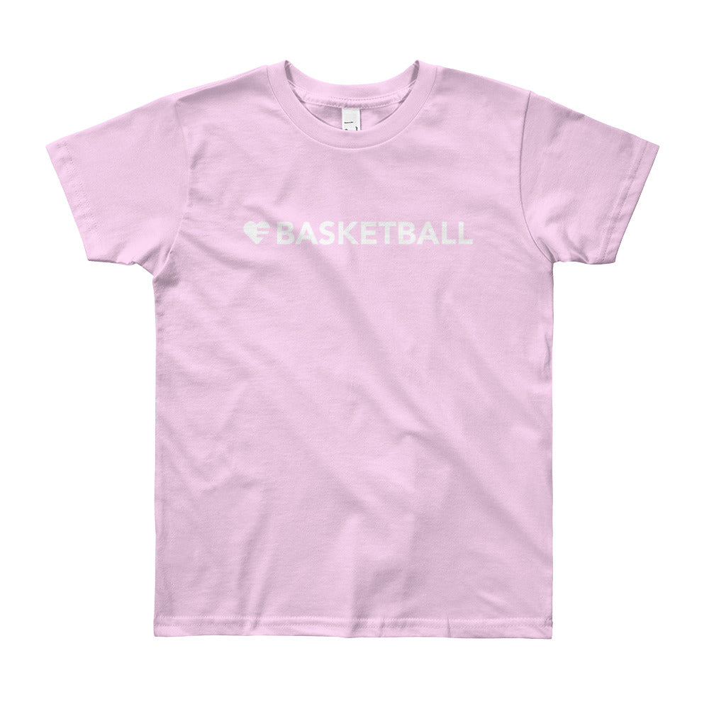 Pink Heart=Basketball Youth Tee