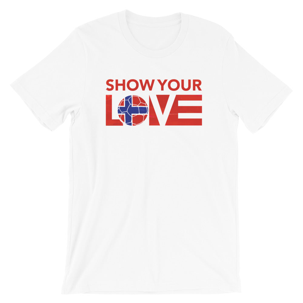 White Show Your Love Norway Unisex Tee