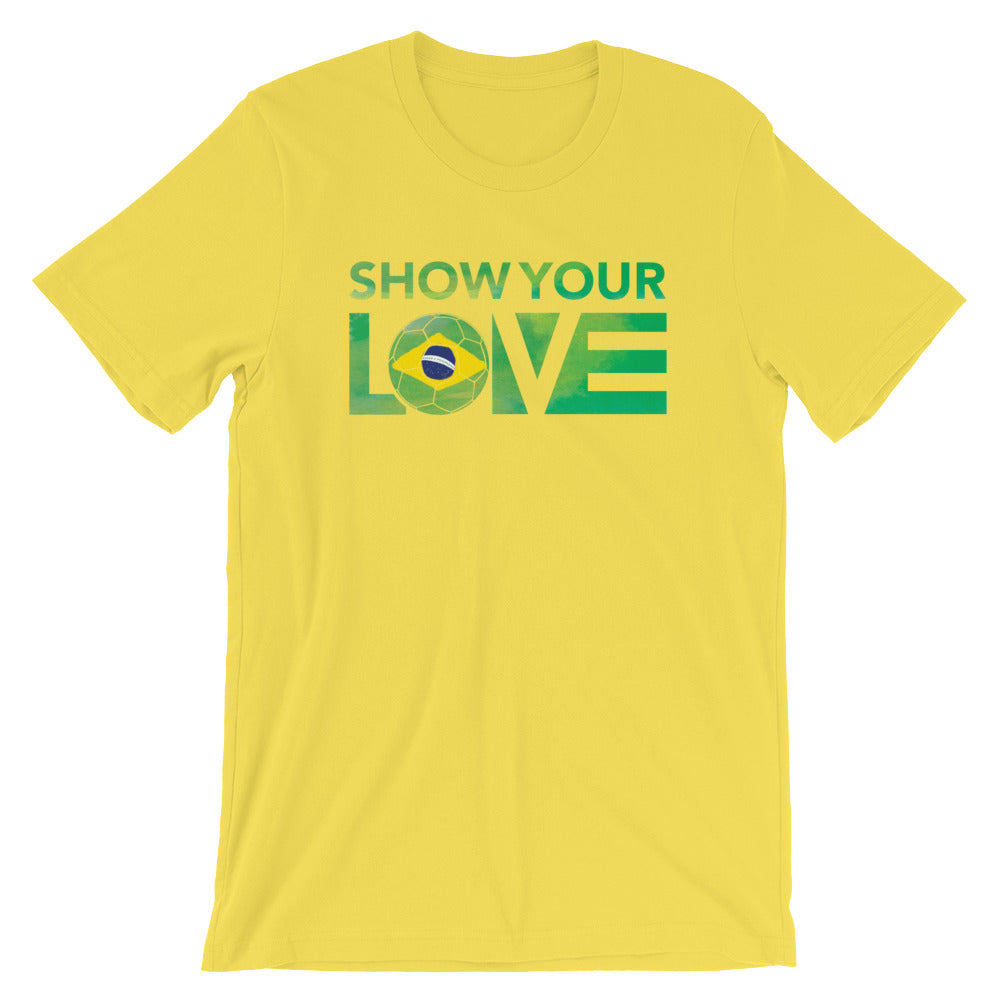 Yellow Show Your Love Brazil Unisex Tee