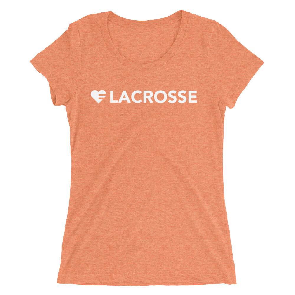 Orange Heart=Lacrosse Ultra Slim Fit Triblend Tee