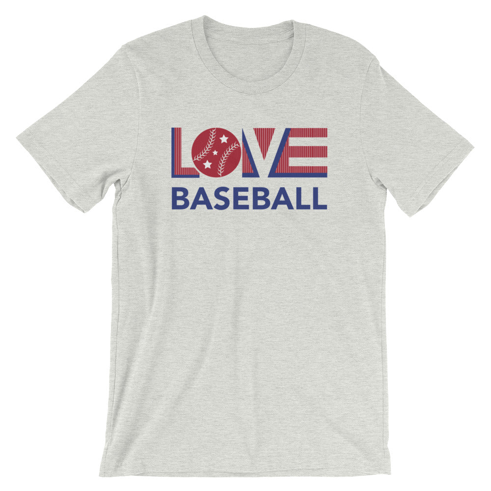 Athletic heather LOV=Baseball Unisex Tee