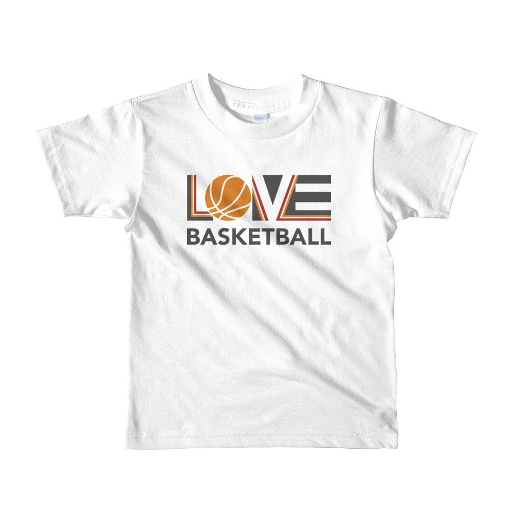 White LOV=Basketball Kids Tee