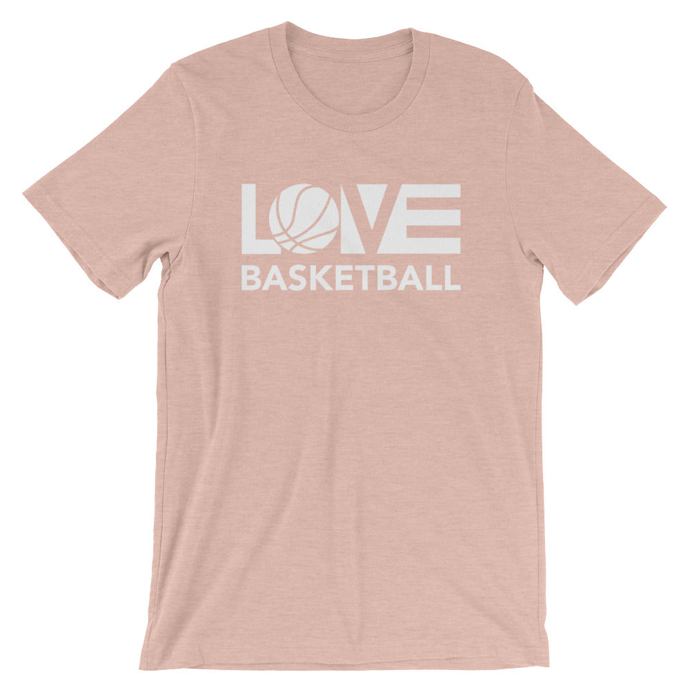 Peach LOV=Basketball Unisex Tee