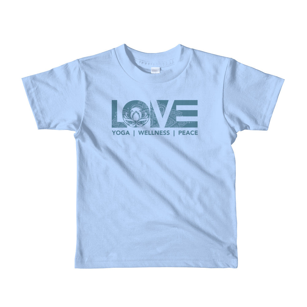 Baby Blue LOV=Yoga Kids Tee