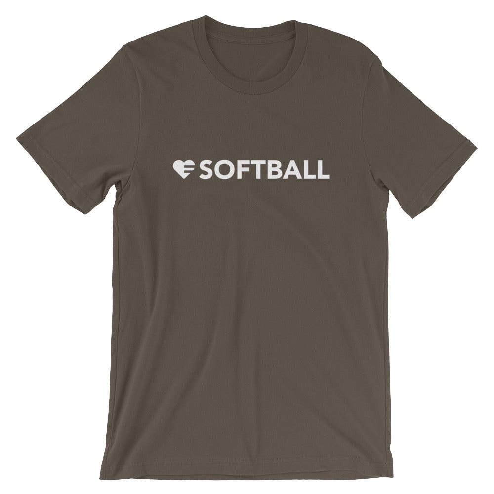 Army Heart=Softball Unisex Tee