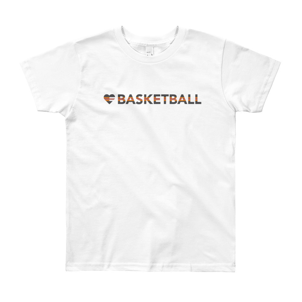 White Heart=Basketball Youth Tee