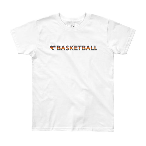 Heart=Basketball Youth Tee (8yrs-12yrs)
