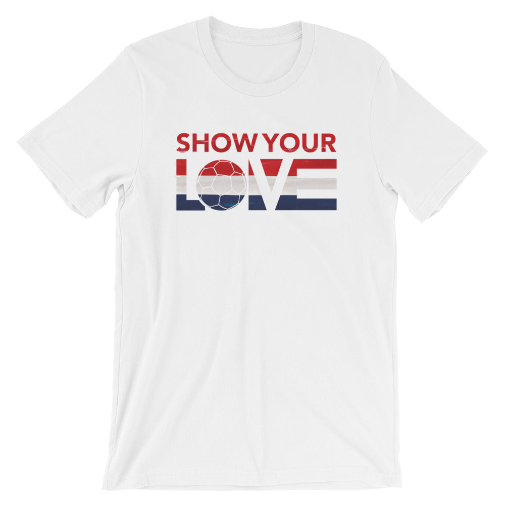 White Show Your Love Netherlands Unisex Tee