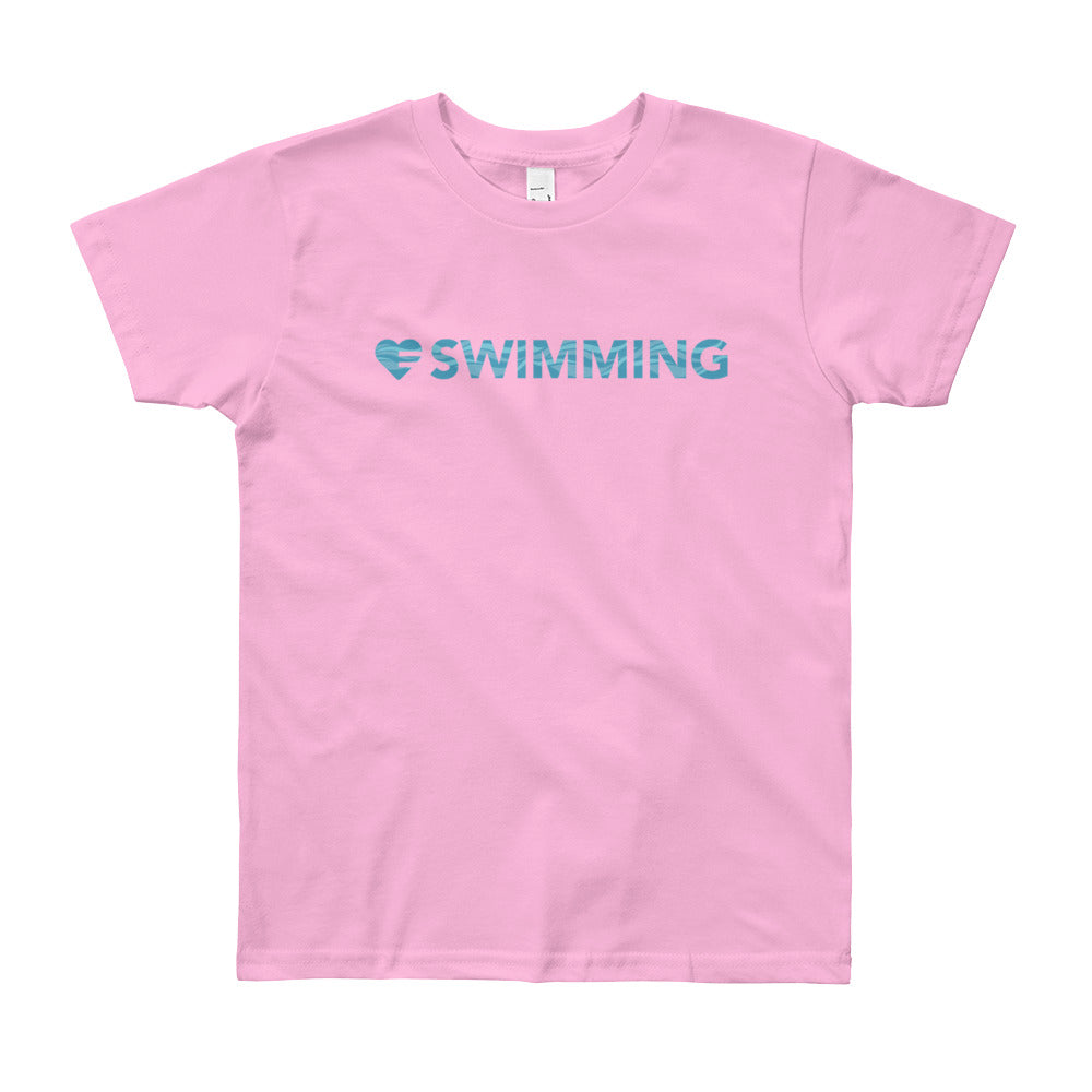 Pink Heart=Swimming Youth Tee