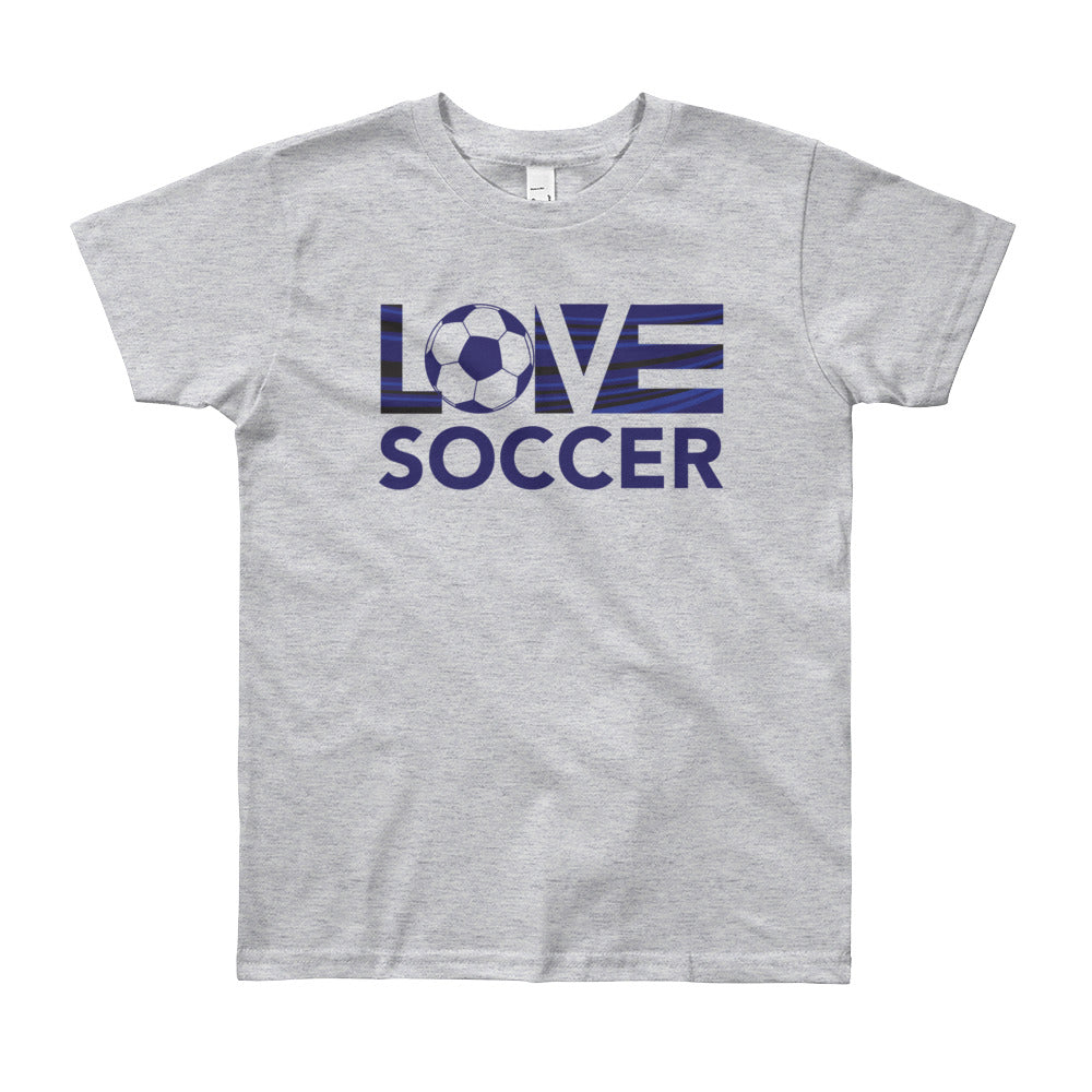 Heather grey LOV=Soccer Youth Tee