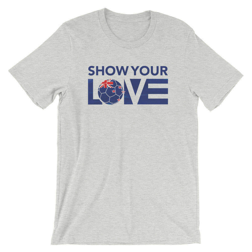 Athletic Heather Show Your Love New Zealand Unisex Tee
