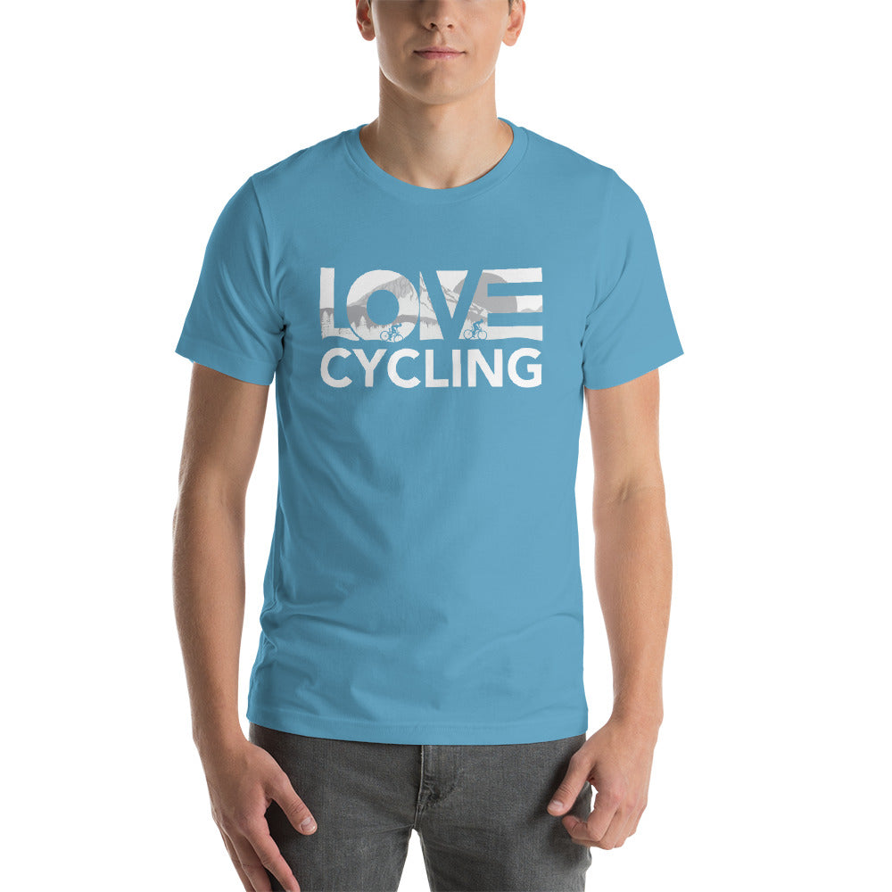 Ocean blue LOV=Cycling Unisex Tee