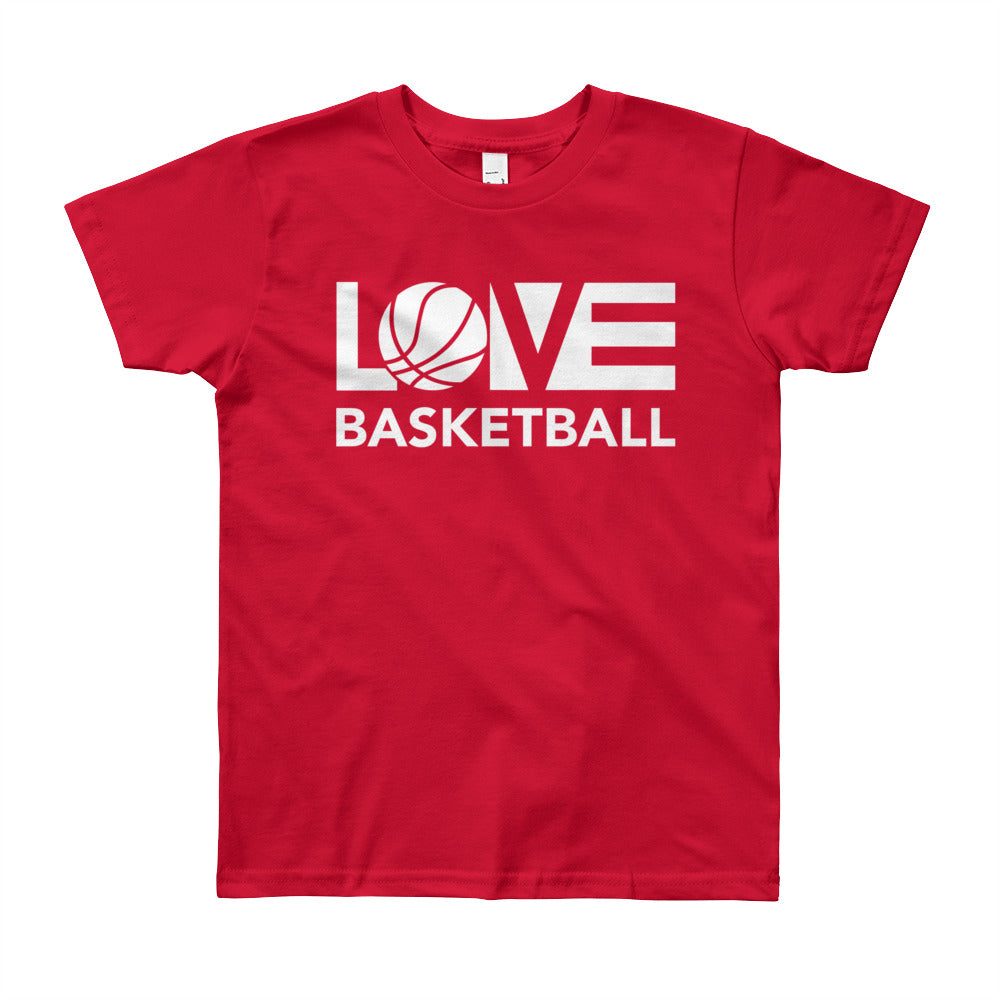 Red LOV=Basketball Youth Tee