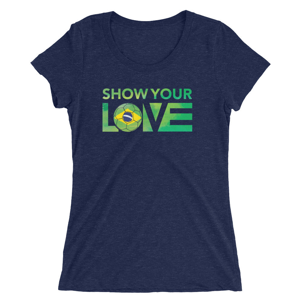 Navy Show Your Love Brazil Ultra Slim Fit Tee