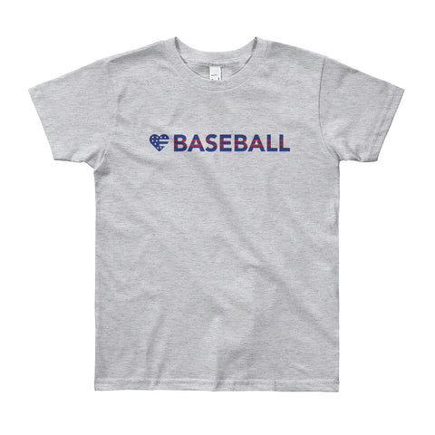 Heart=Baseball Youth Tee (8yrs-12yrs)
