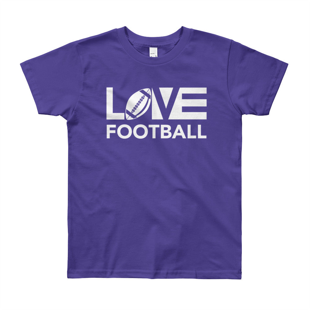 Purple LOV=Football Youth Tee