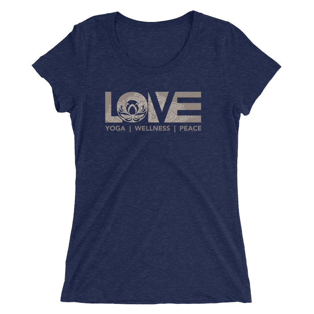 Navy LOV=Yoga Ultra Slim Fit Triblend Tee