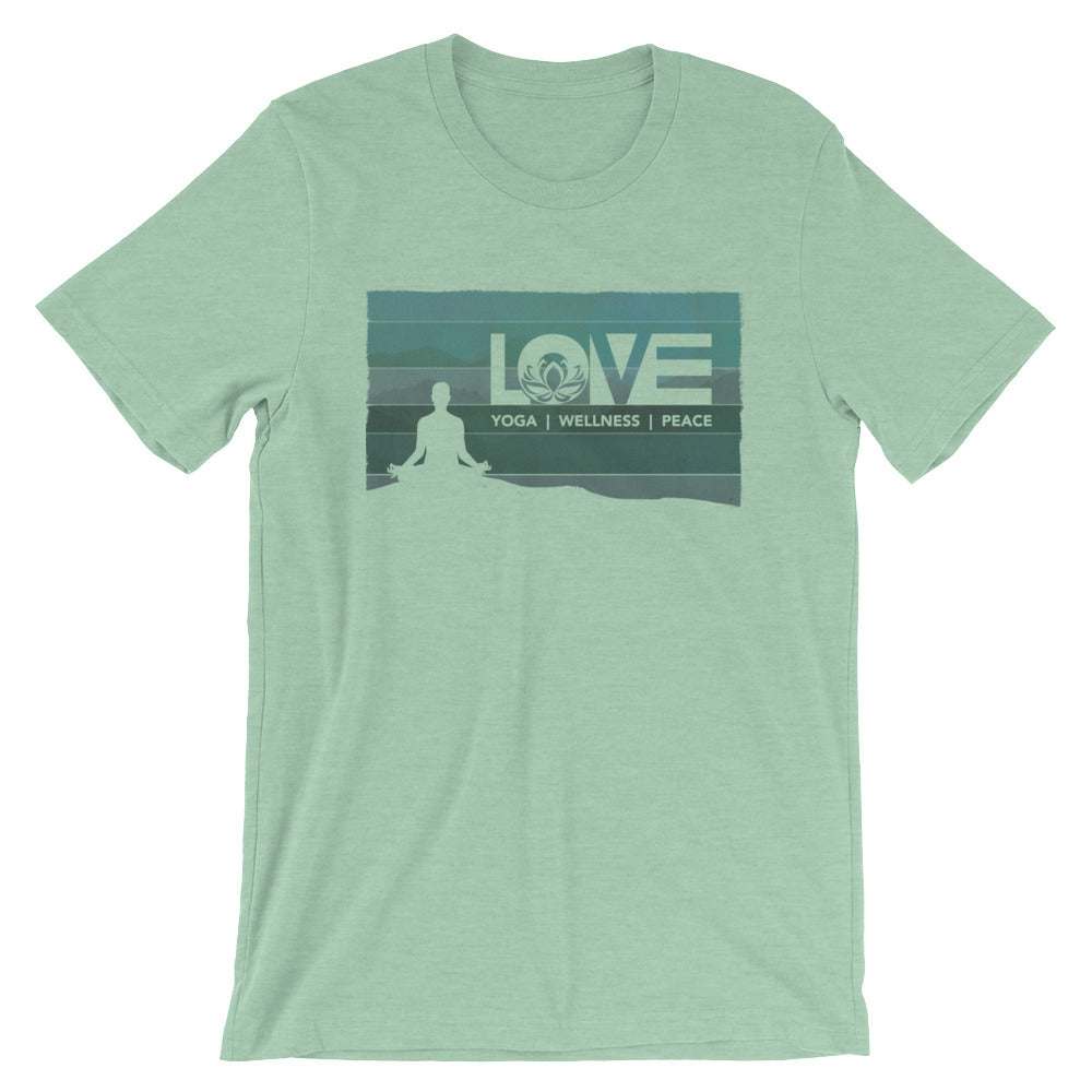Heather Prism Mint LOV=Yoga Vintage Unisex Tee
