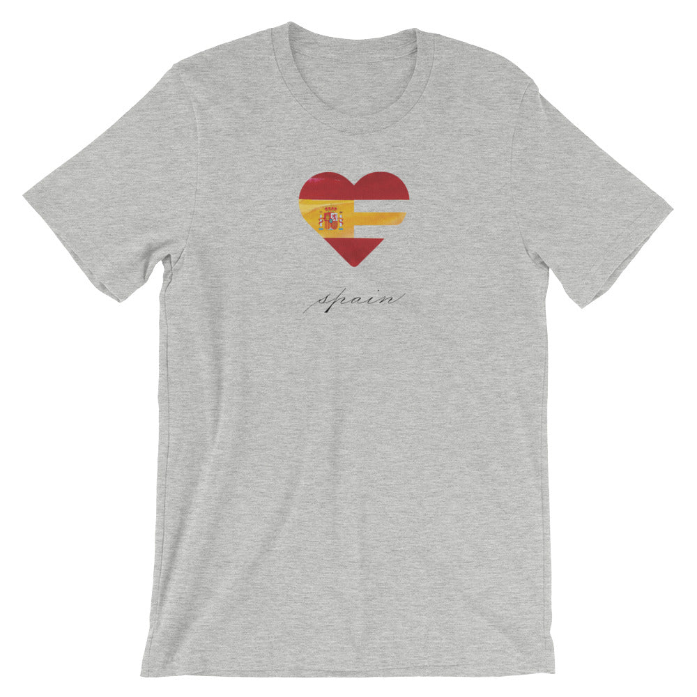 Athletic Heather Spain Heart Unisex Tee