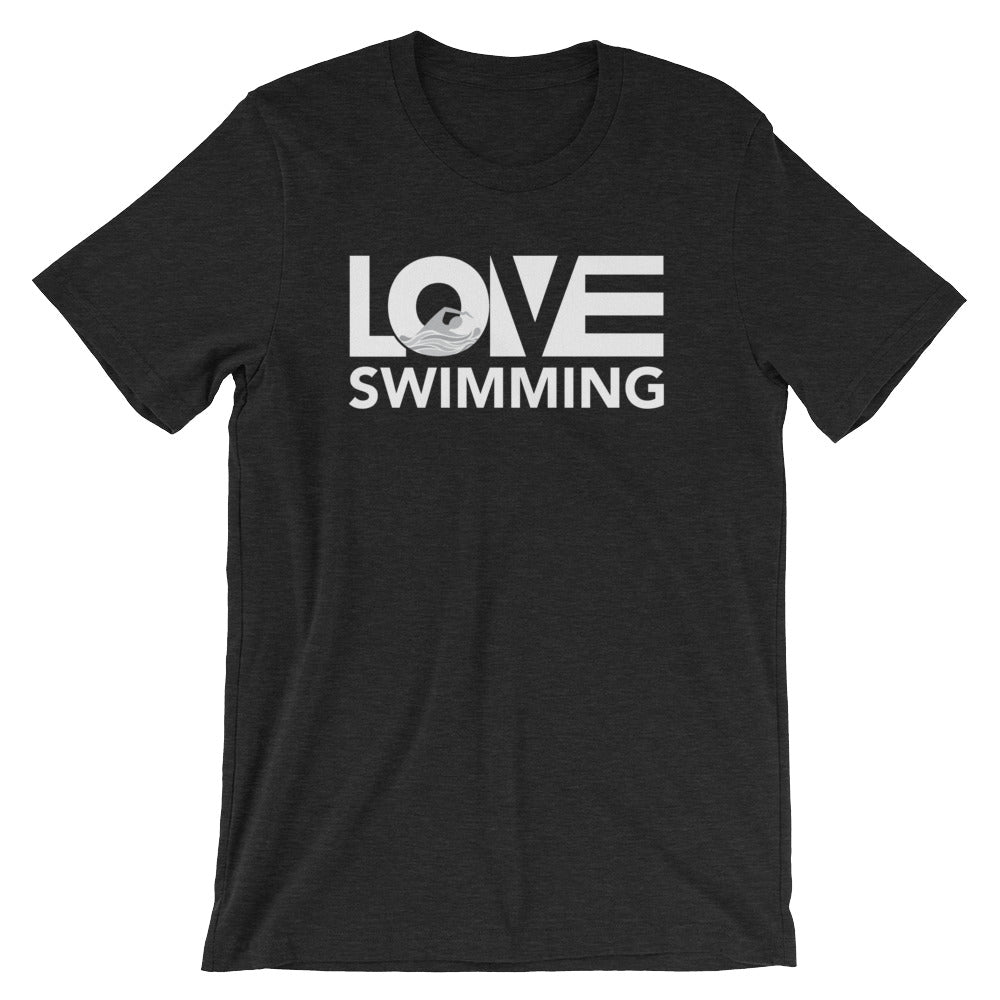Black LOV=Swimming Unisex Tee