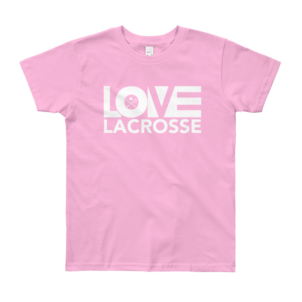 Pink LOV=Lacrosse Youth Tee
