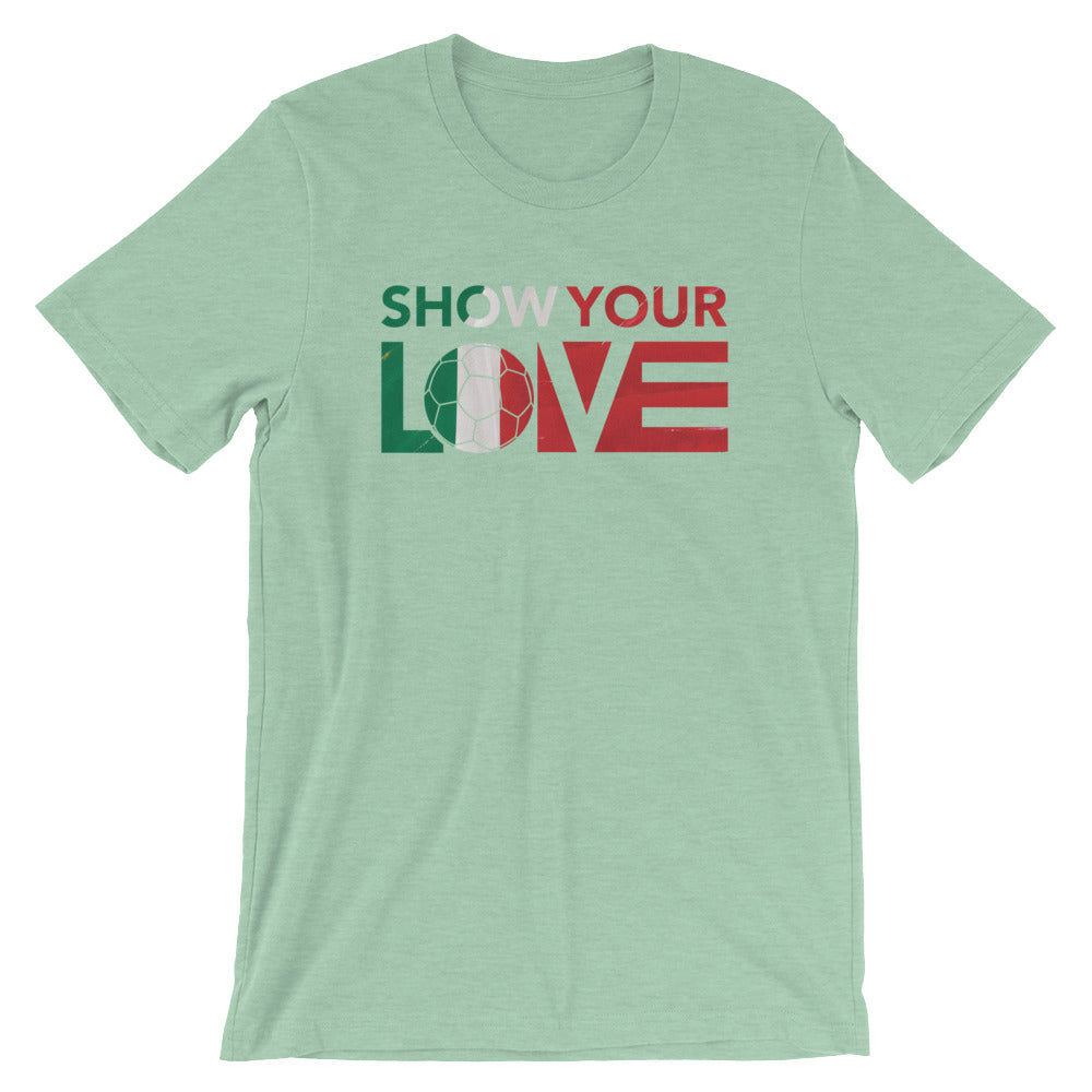 Heather Prism Mint Show Your Love Italy Unisex Tee