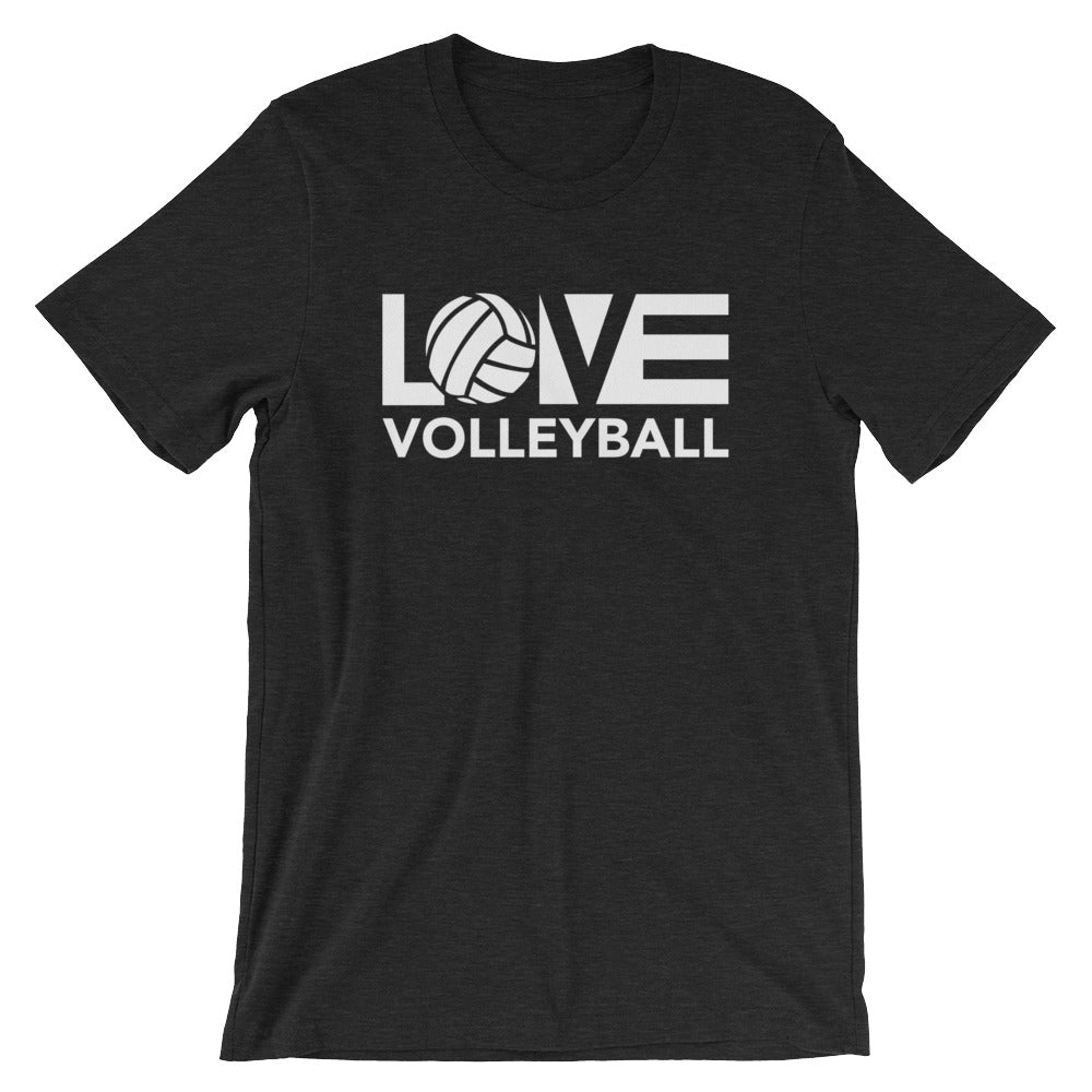 Black LOV=Volleyball Unisex Tee