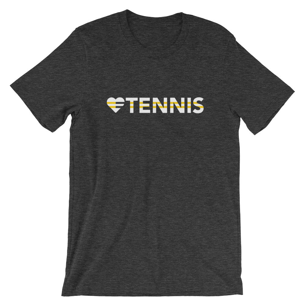 Dark grey heather Heart=Tennis Unisex Tee