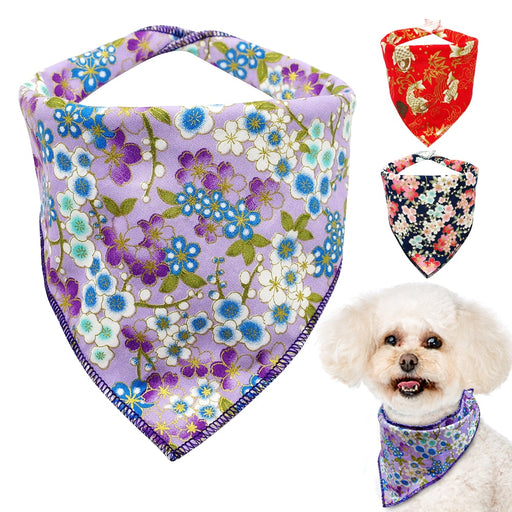 Made of soft cotton: collars, neckerchief, tie for your pet.
