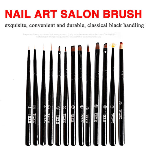 Brush Styles, Nail Art Liner, Flower Painting. 13 brushes to choose from / 1 piece